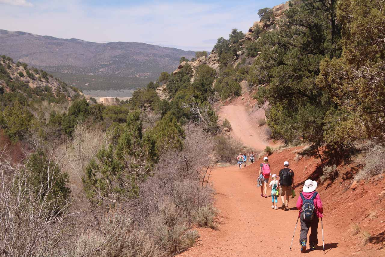 There were lots of people headed to Kanarraville Falls when we were headed out