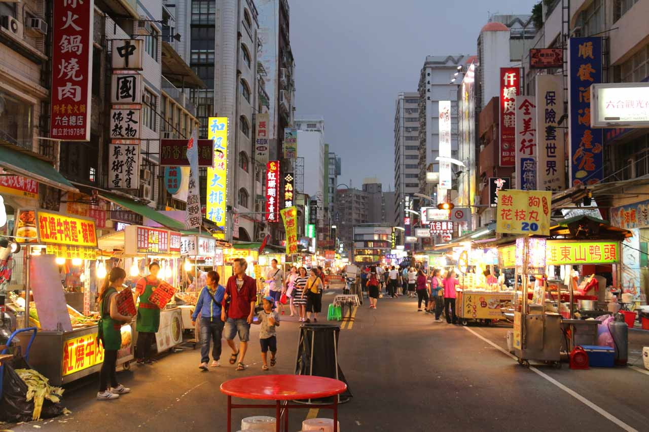 The night before our visit to Dajin Waterfall, we sampled the food at the Liuhe Night Market in the heart of Kaohsiung