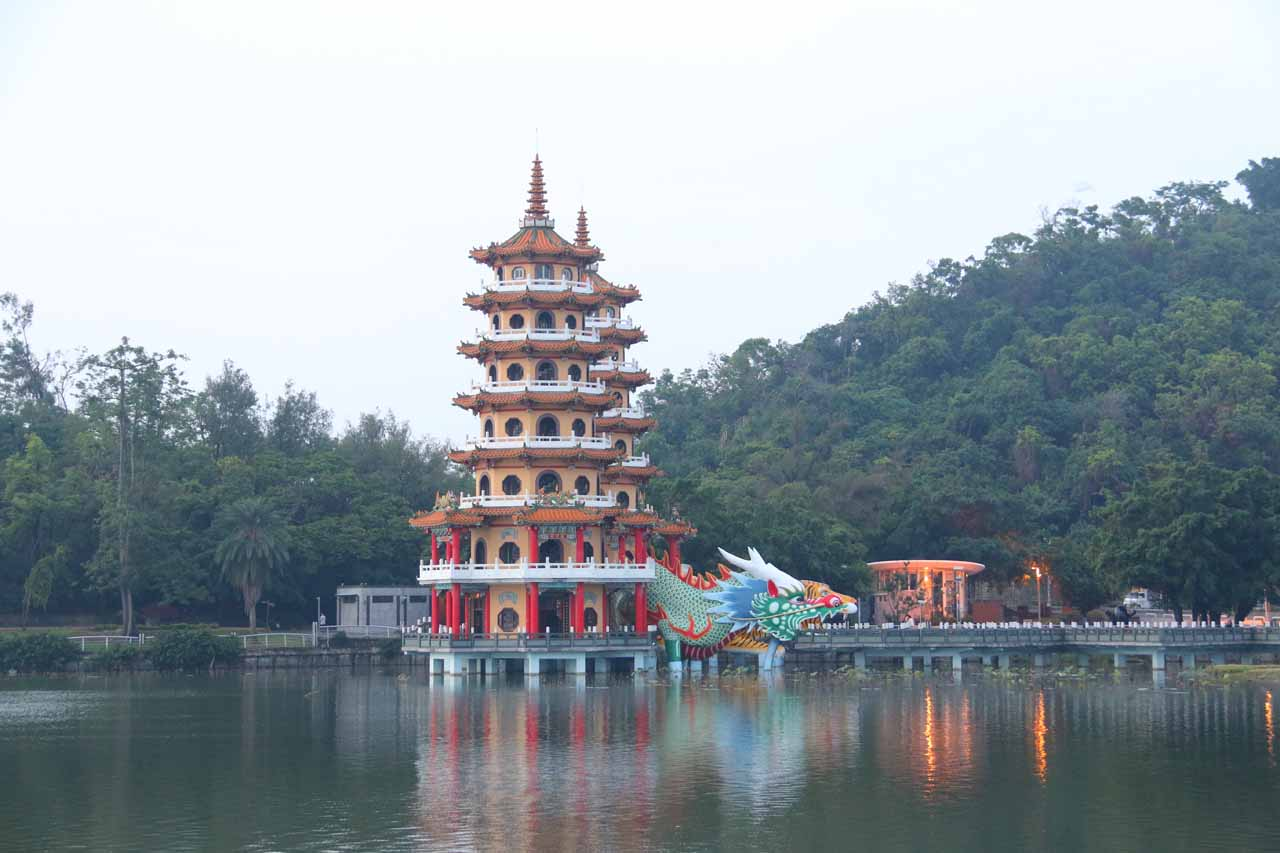 On the outskirts of Kaoshiung was the more serene Lotus Pond, which was fringed by a series of modern temples and pagodas