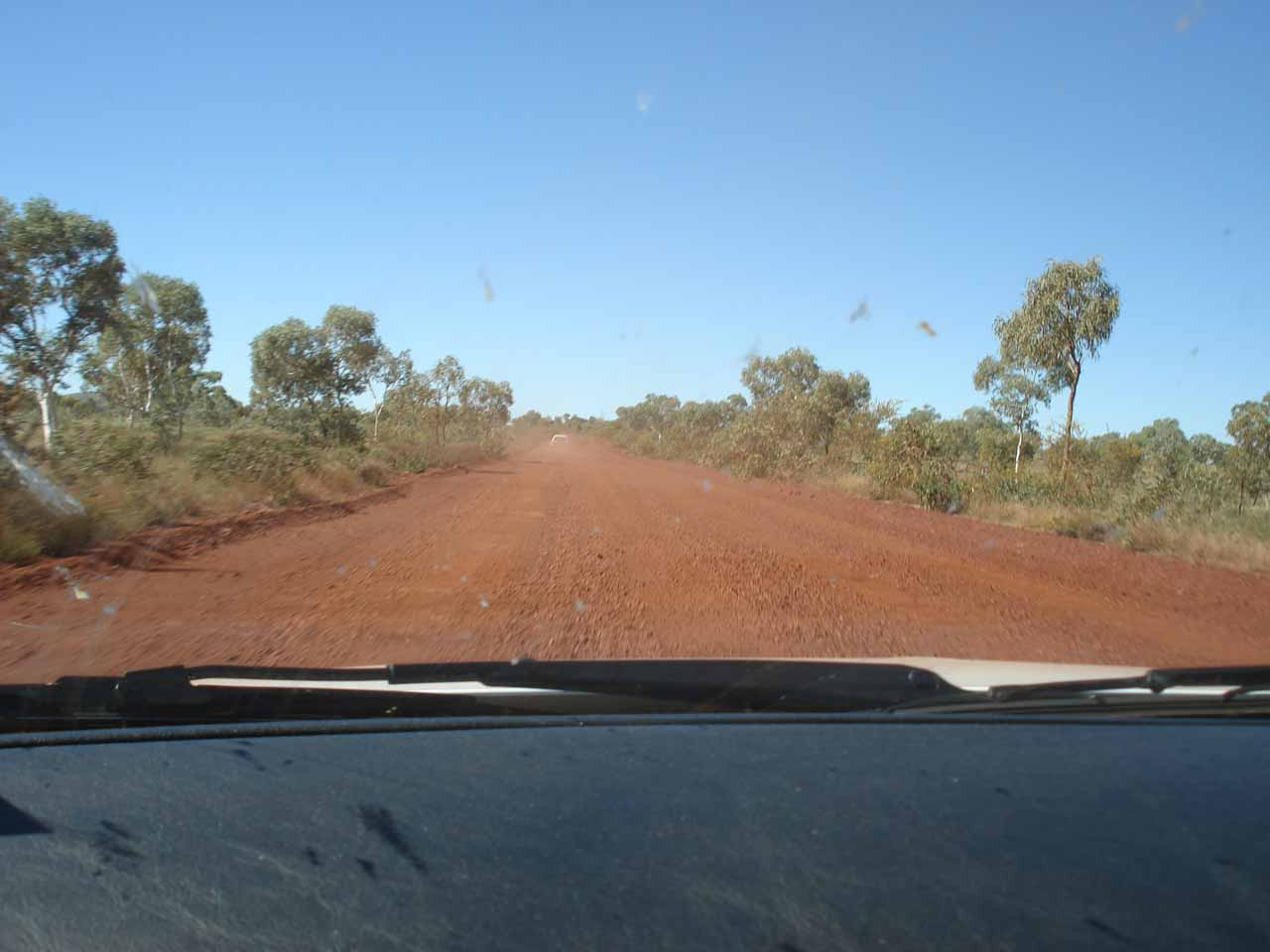 West of the Karijini NP Visitor Center, the Banjima Drive became unsealed