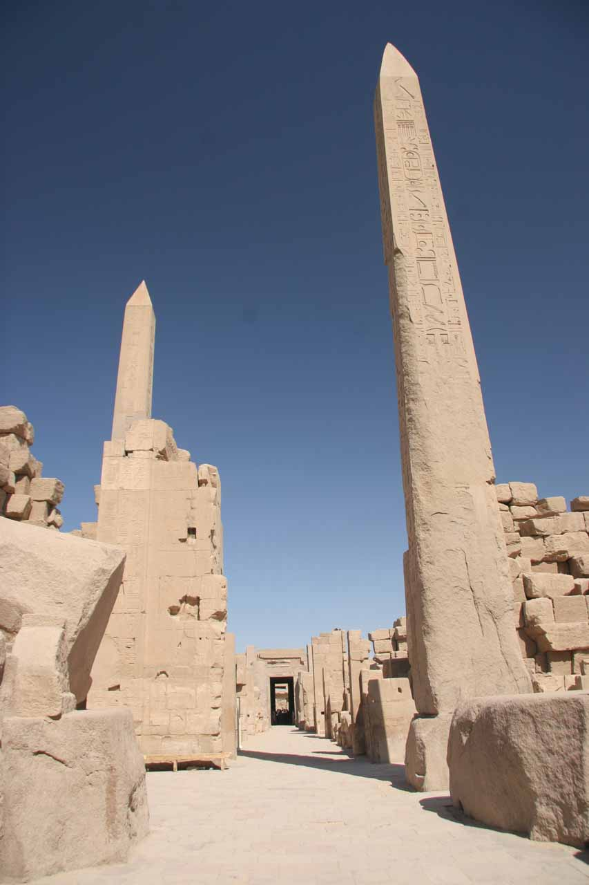 Obelisks in Karnak Temple