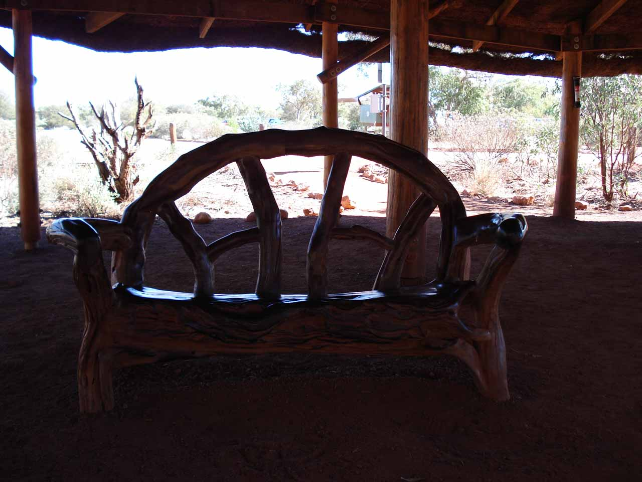 Inside some open-air shelter while we were exploring Kata Tjuta