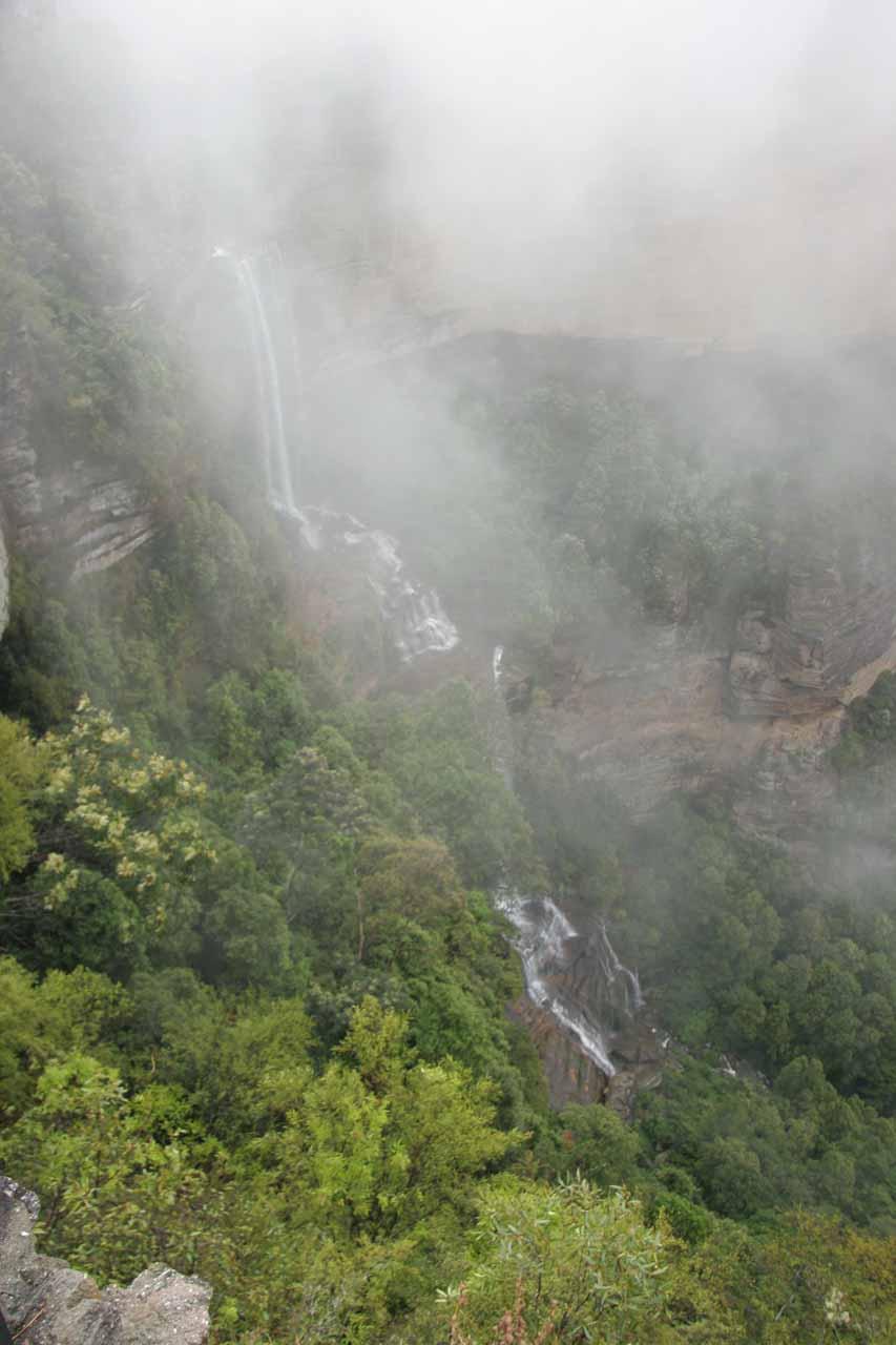 Just as quickly as the Katoomba Falls was finally revealed, the clouds shrouded it again