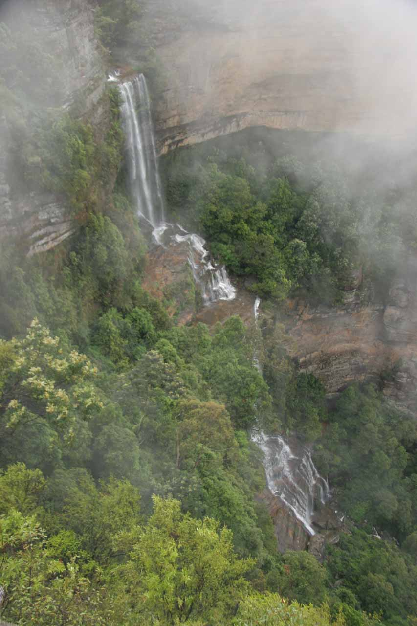 The clouds momentarily parted enough for us to get this view of Katoomba Falls during our rainy visit in November 2006
