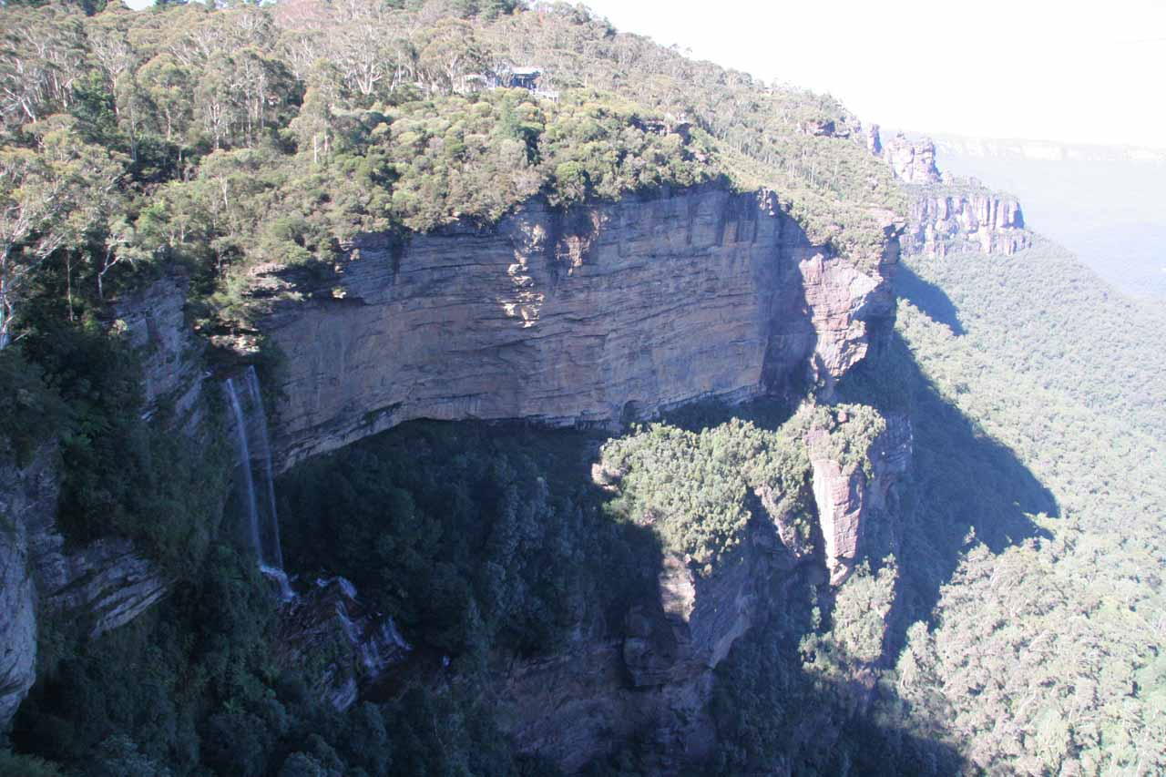 Katoomba Falls and the Three Sisters in the background