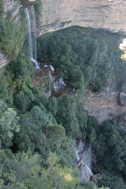 Katoomba_Falls_006_05032008 - Looking right down at Katoomba Falls from the lookout on a clear day in May 2008
