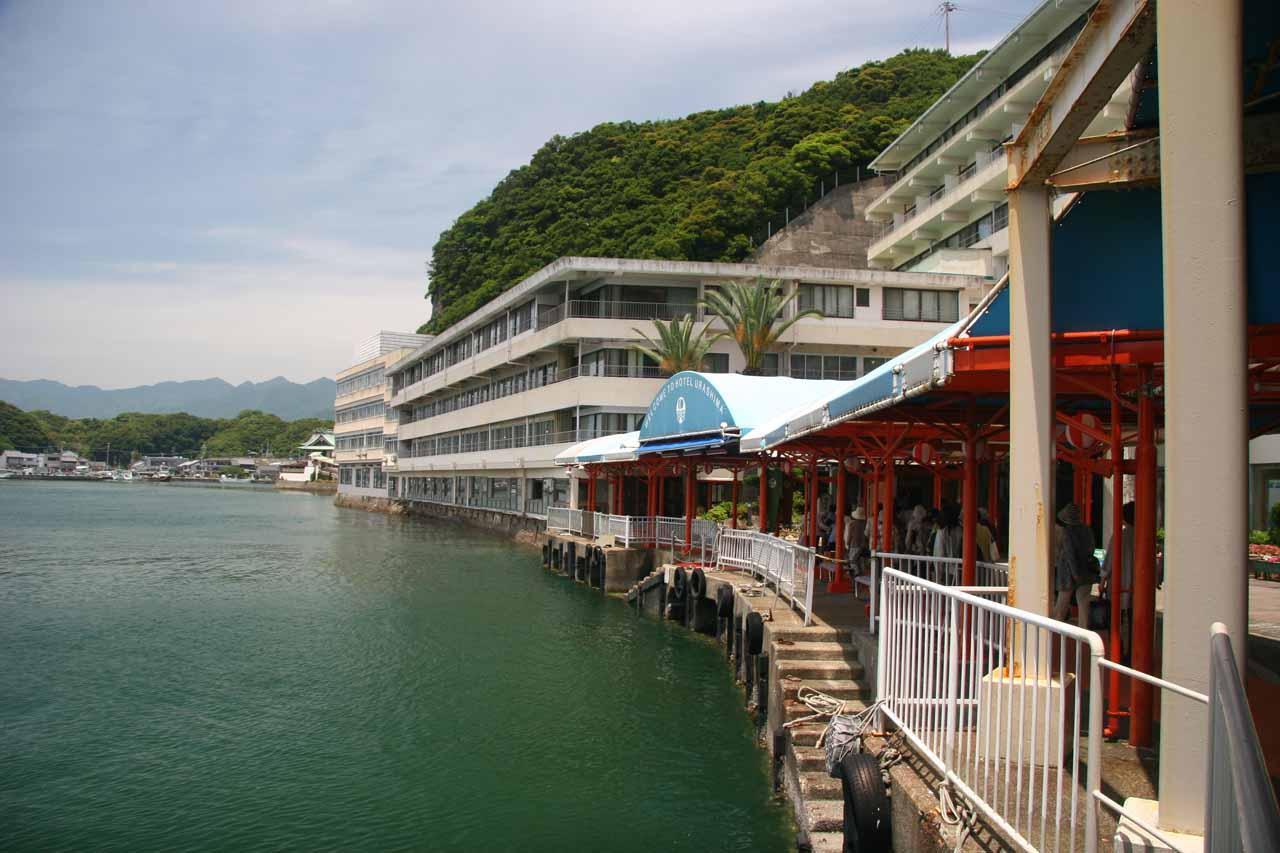 Hotel Urashima boat dock