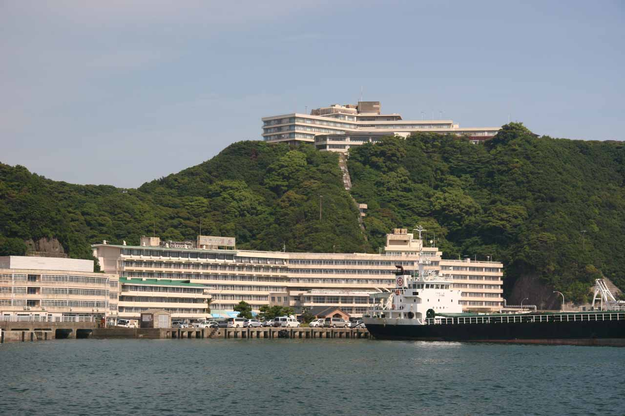 Looking across the inlet towards Hotel Urashima