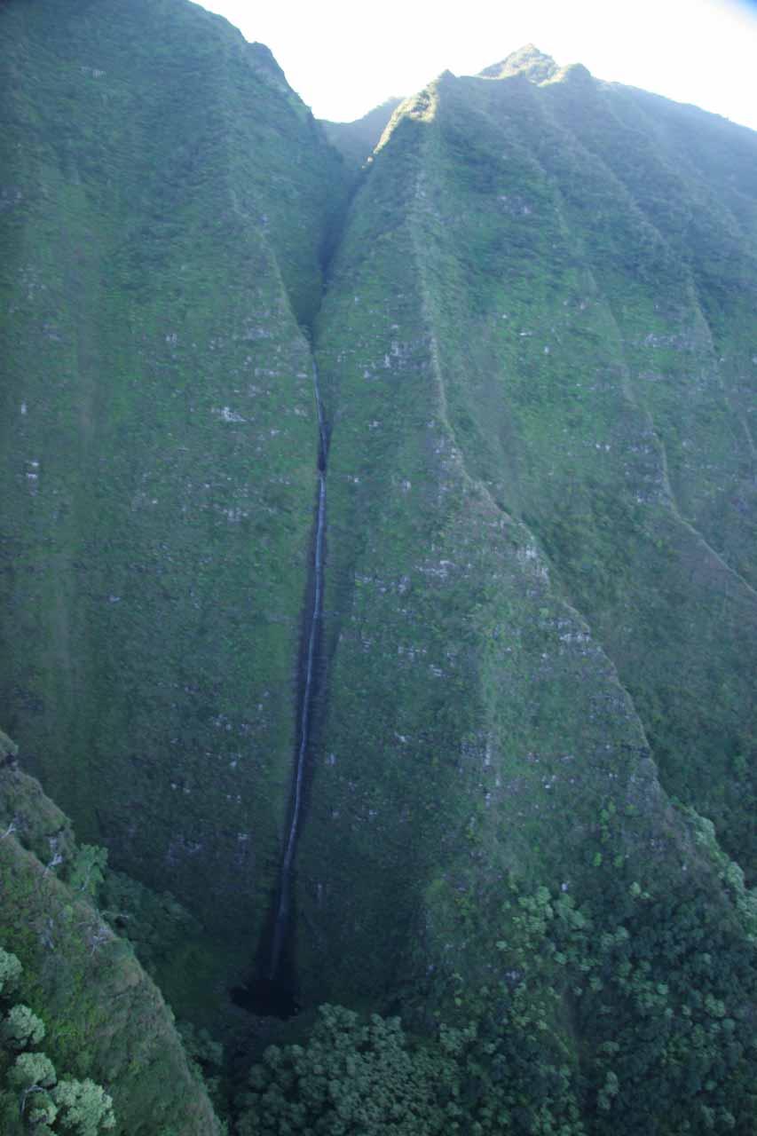 Aerial view of Hanakoa Falls