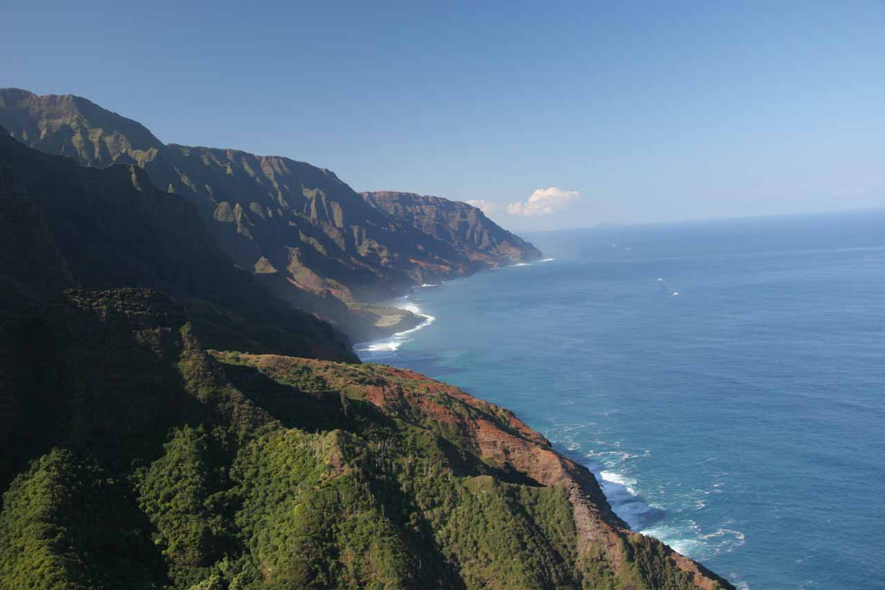 Would you spend hundreds of dollars for a view of the Na Pali Coast such as this?
