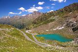 Kaunertal_240_07192018 - Gorgeous context of the Kaunertal Glacier Road passing by a very colorful glacial lake en route to the bottom of the valley