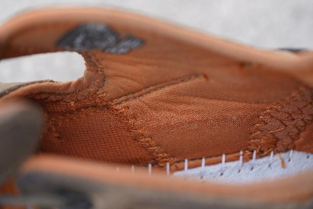 Closeup look at the inner lining of the Keen Arroyo II which was there for comfort and chaff prevention, but it also tended to retain moisture