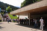 Kehlstein_025_07012018 - Looking back at the long line waiting to purchase their bus tickets to get up to the Eagle's Nest