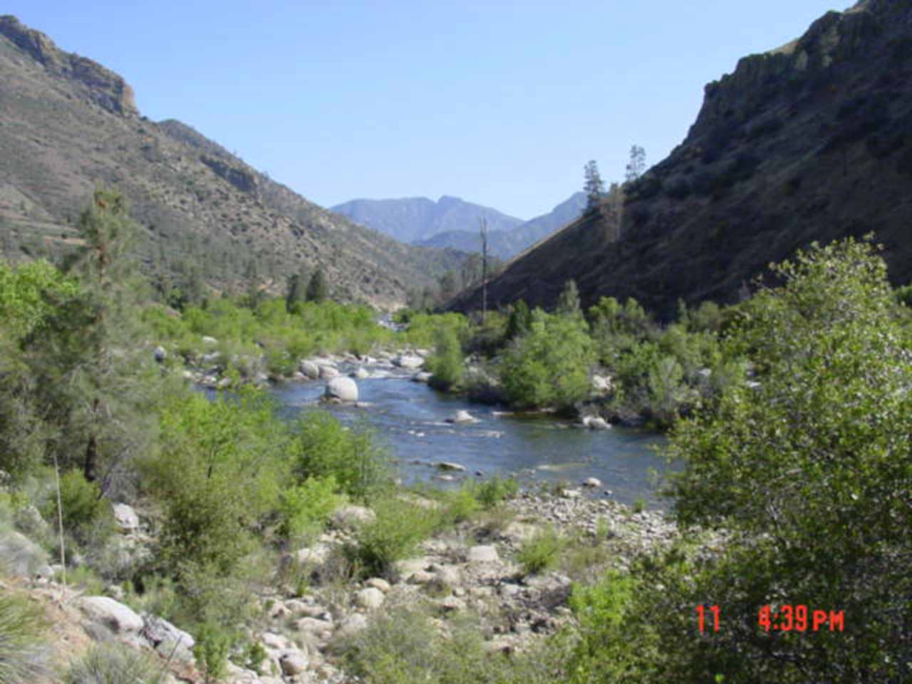 Nearby South Creek Falls was the Kern River, which was very popular for whitewater rafting