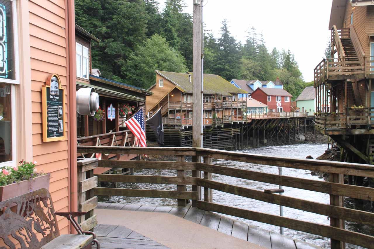 The same Alaskan Cruise also made a stop in Ketchikan, Alaska, which was perhaps best known for the stilted village shown here as well as being the 'salmon capital of the world'