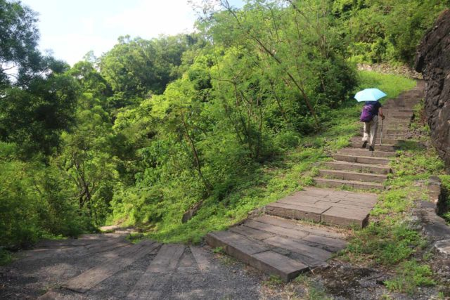 Keyoufeng_Waterfall_018_10282016 - Mom going up the many steps en route to the Kayoufeng Waterfall