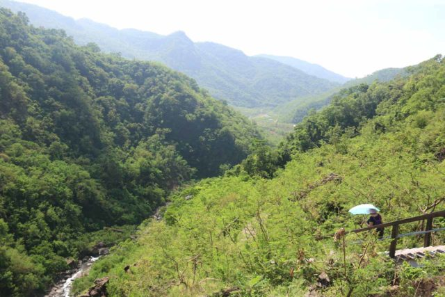 Keyoufeng_Waterfall_140_10282016 - Looking back down the valley from the hot and sweaty ascent up to the Kayoufeng Waterfall