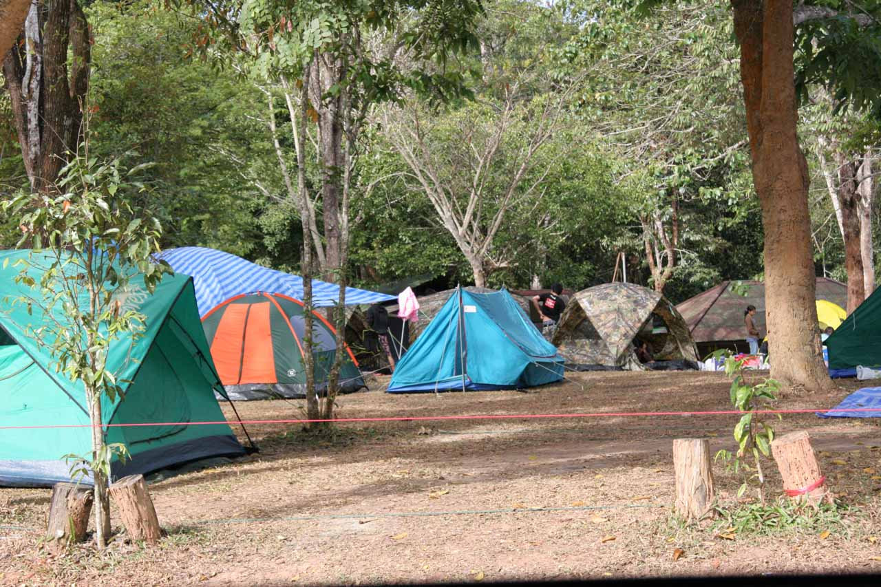 Crowded campsites
