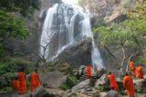 Khlong_Lan_033_01042009 - Another look at monks enjoying the Klong Lan Waterfall