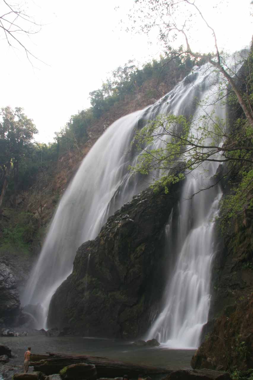 Profile of the waterfall
