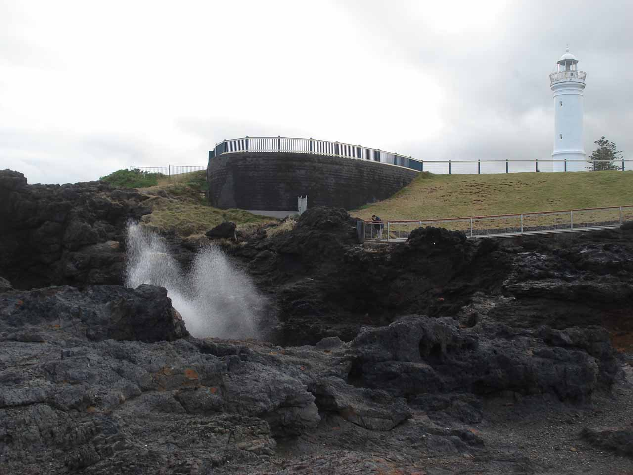 The Kiama Blowhole and the nearby lighthouse