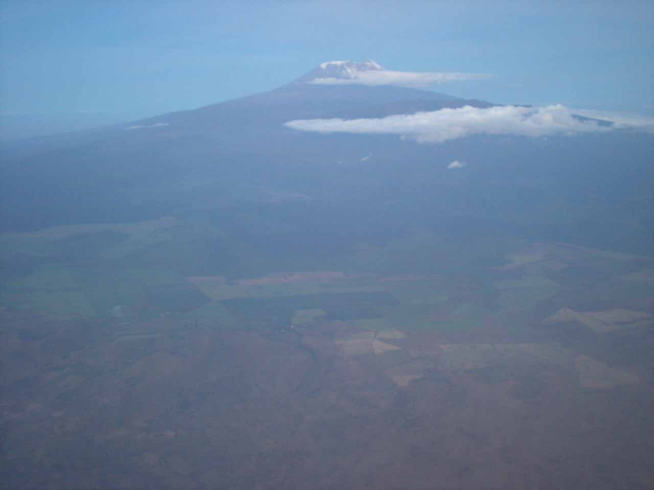 The only time Mt Kilimanjaro was mostly free of clouds