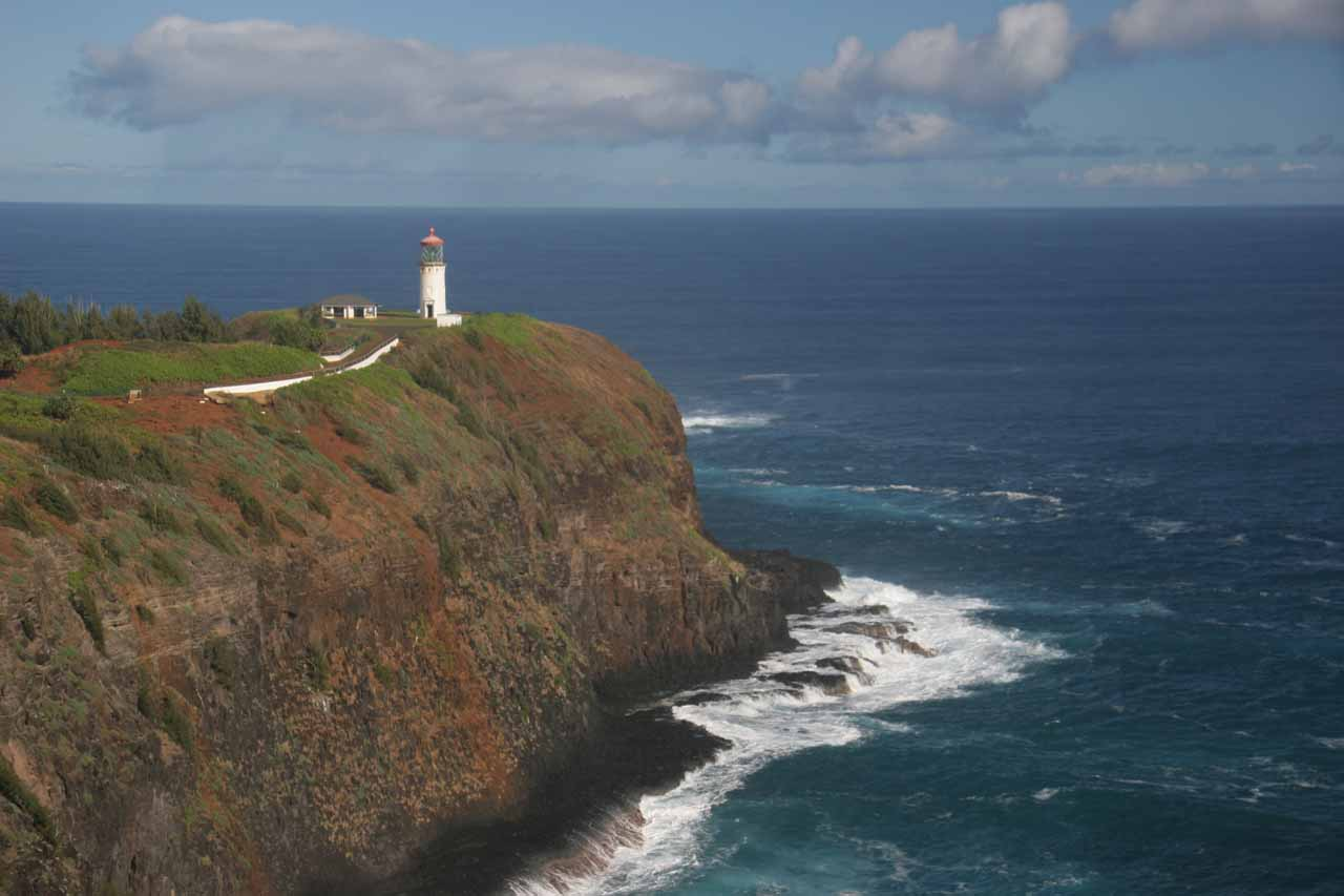 Further to the north on the way to Princeville, we took a brief detour to check out the Kilauea Lighthouse