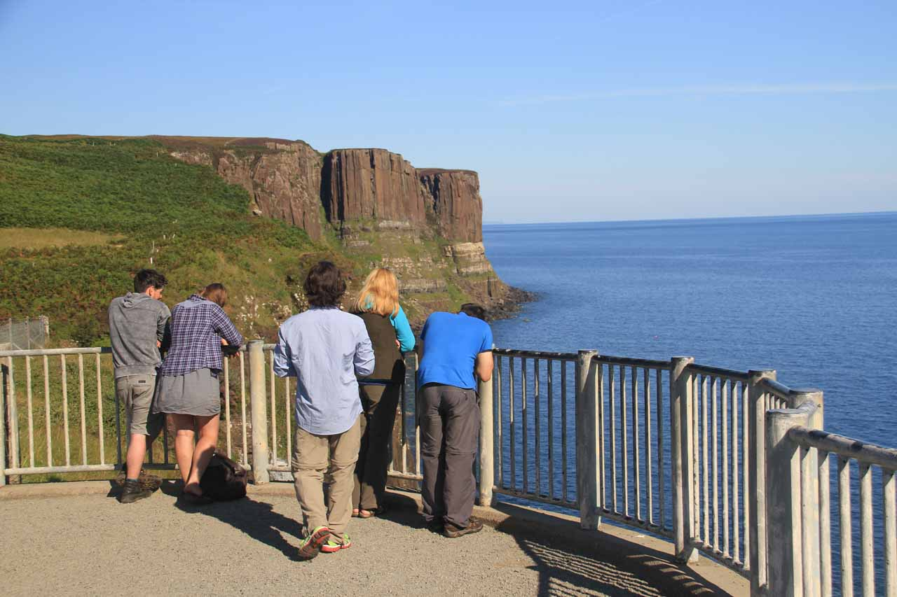 Even though the overlook area itself was spacious, there really was only a small area where you can get satisfying photos of both Mealt Falls and the Kilt Rock together