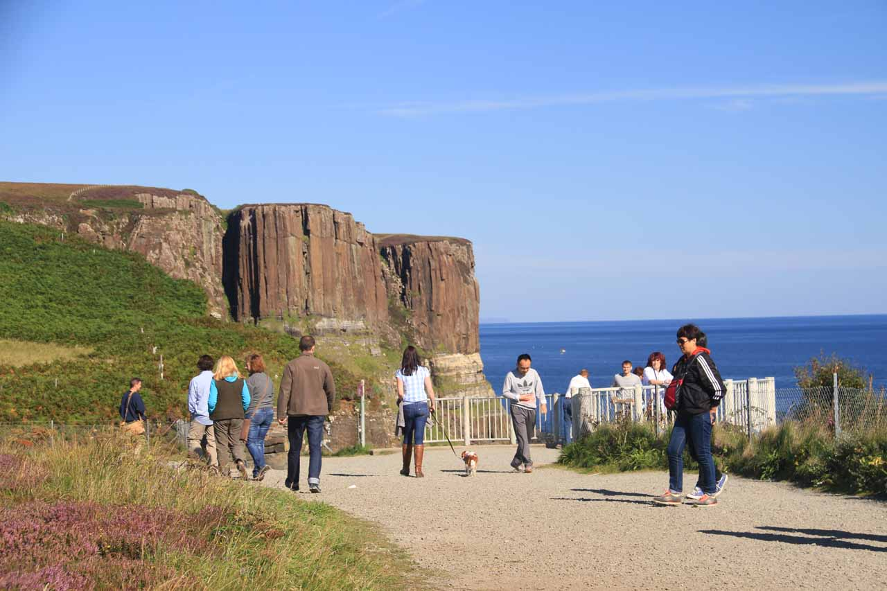 The large lookout area for Kilt Rock