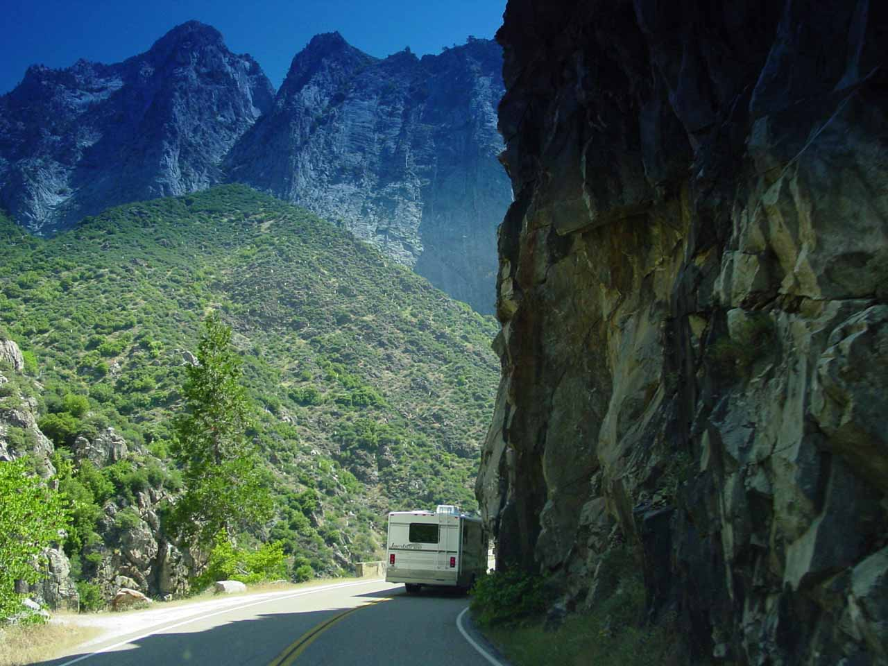 Following an RV along the Kings Highway