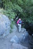 Kings_Canyon_Falls_030_06212016 - Mom rounding the last bend before being right in front of Kings Canyon Falls