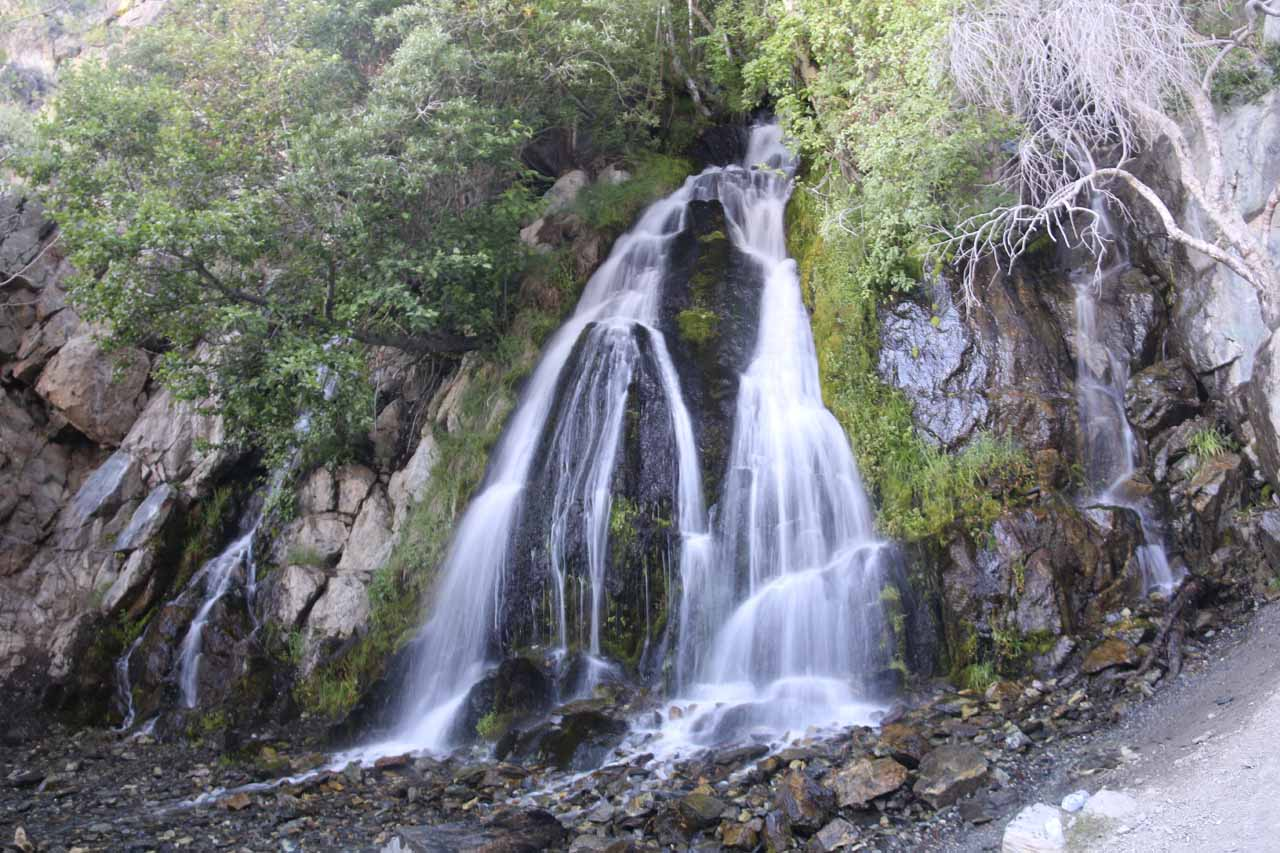Our first look at the inviting Kings Canyon Falls