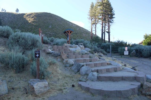Kings_Canyon_Falls_084_06212016 - The start of the Kings Canyon Falls Trail went up these steps as it immediately ascended from the trailhead parking and bypassed the private property next door