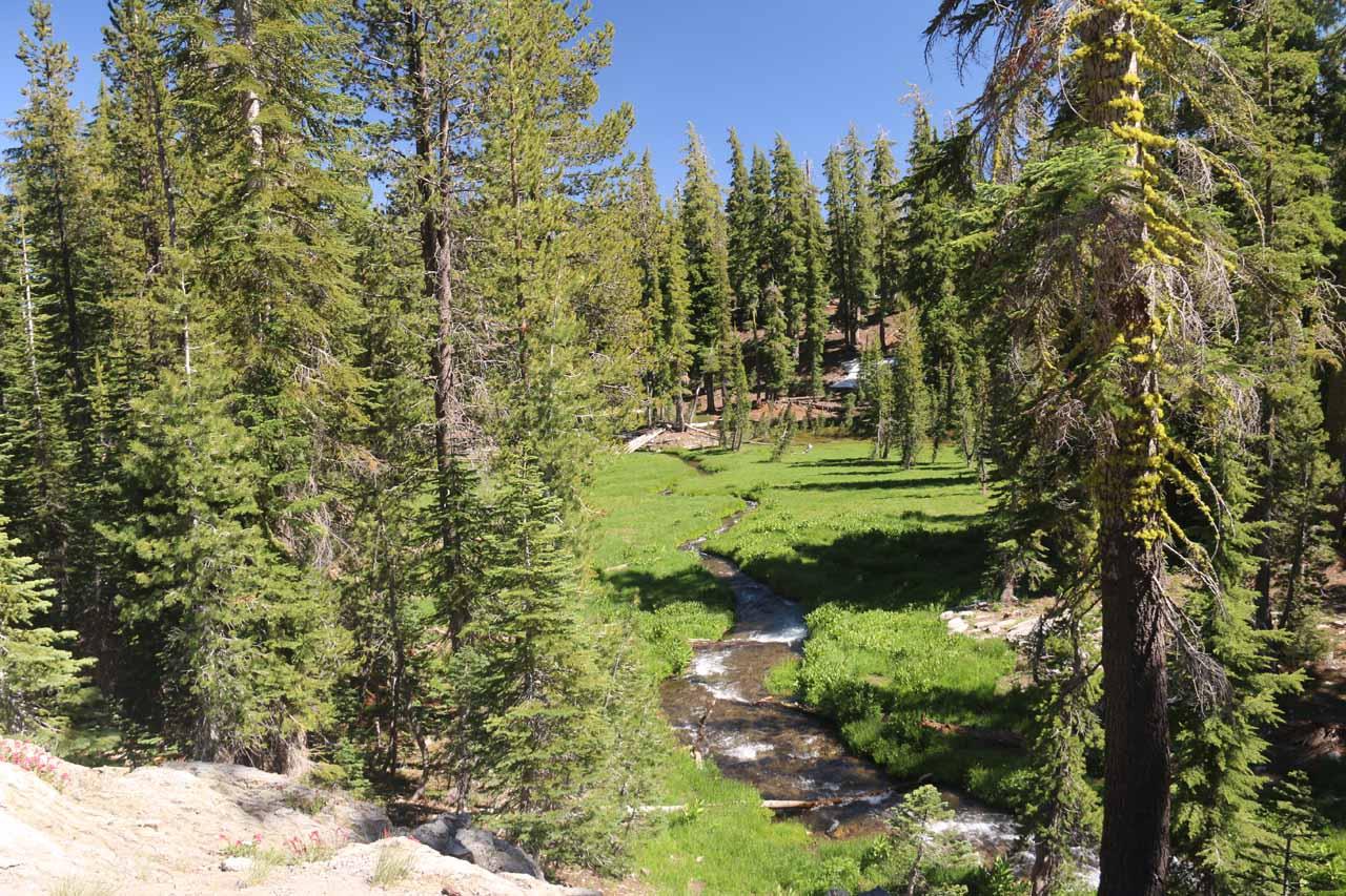 Kings Creek meandering through the meadow