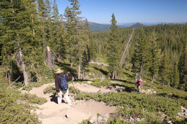 Kings_Creek_Falls_055_07122016 - Mom and Dad descending the Horse's Trail on the way to Kings Creek Falls, which bypassed the Cascades Trail (which was closed during our visit)