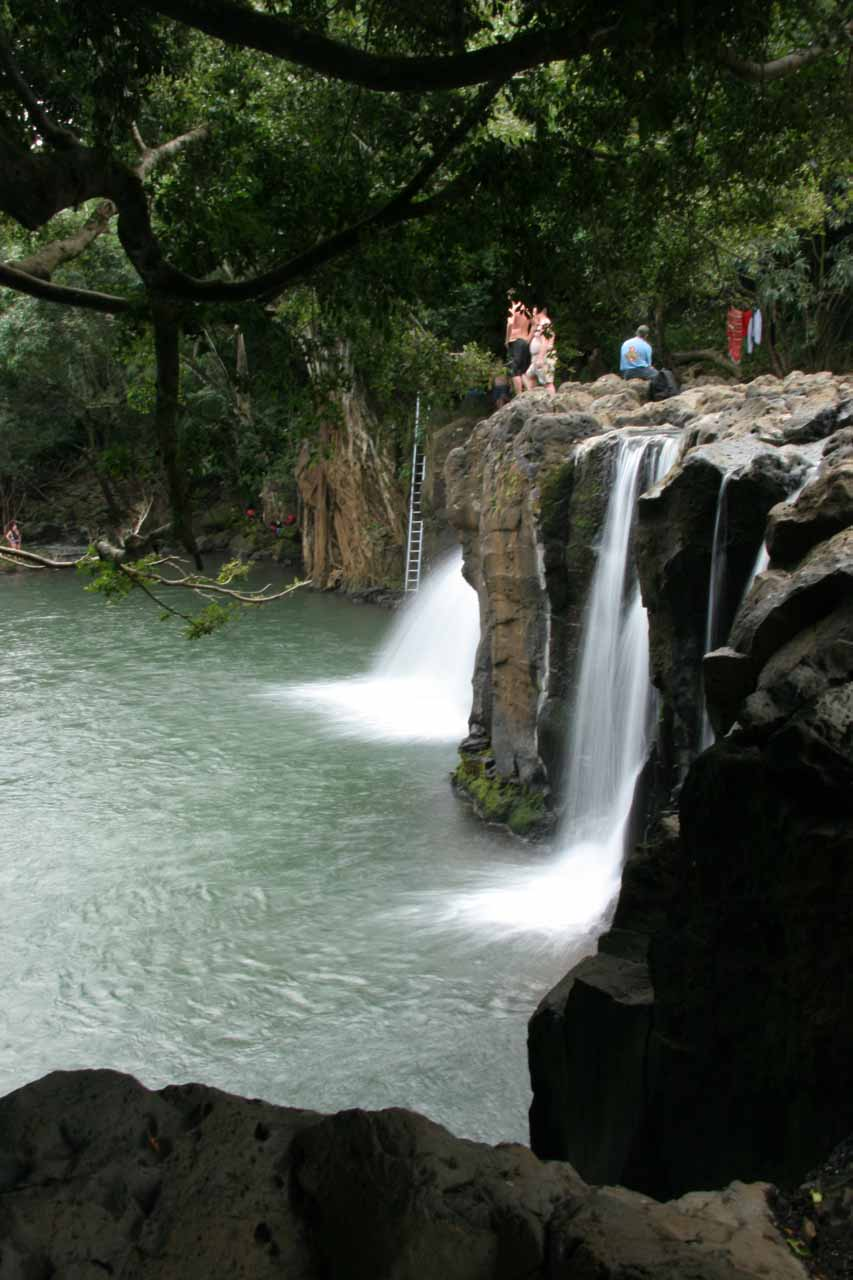 Losing the hood at Kipu Falls