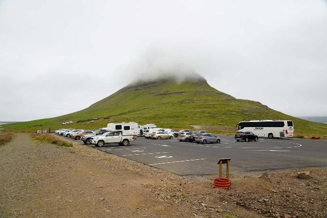 Kirkjufellsfoss_005_08172021 - Looking back at the Kirkjufellsfoss car park, which was definitely more developed in August 2021 than it was in June 2007 when we were first here