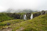 Kirkjufellsfoss_137_08172021 - Looking upstream at the upper drop of Kirkjufellsfoss from the other side