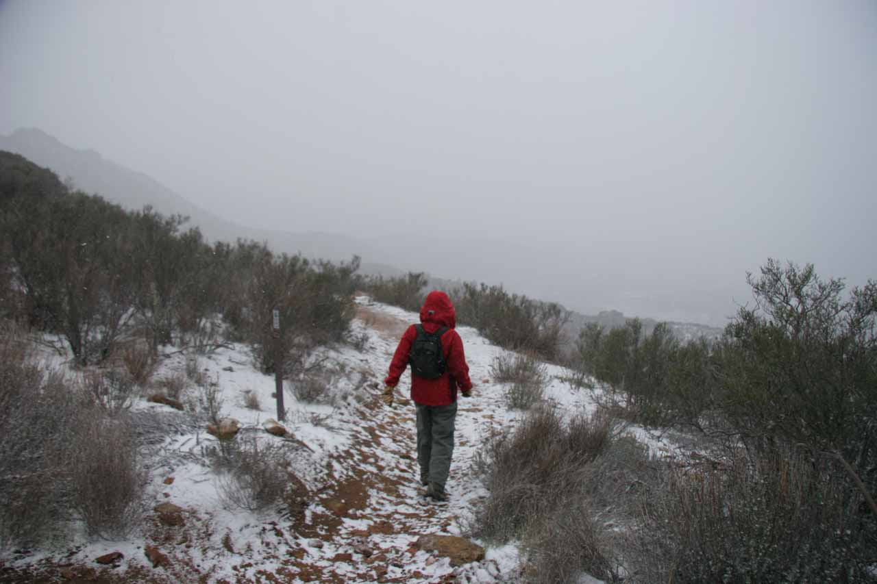 Now scrambling to regain the Pacific Crest Trail