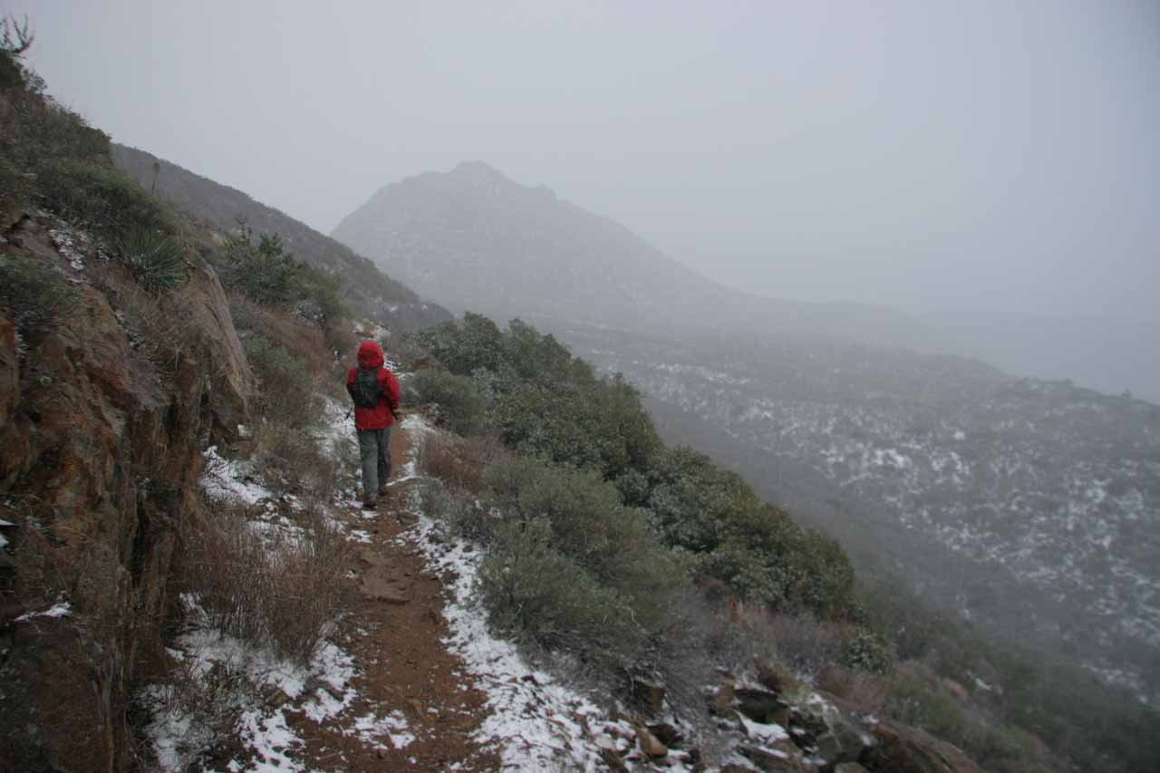 Back on the PCT but now under inclement weather