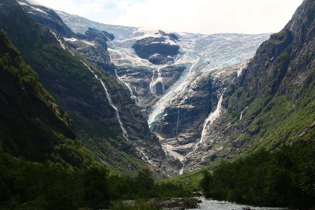 Kjenndalsbreen_088_07192019 - In addition to the Briksdal Glacier, we finally got to visit the Kjenndal Glacier on our return trip to Norway in 2019, but as you can see in this photo, most of the ice from this glacier arm had disappeared