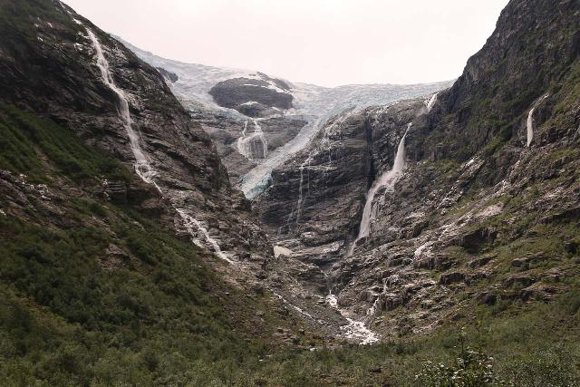 Kjenndalsbreen_154_07192019 - With Global Warming and the consequent rapid melting of mountain glaciers, new waterfalls are emerging. Shown here is the rapidly receding Kjennsdal Glacier in Norway which is likely how Morsárfoss came to be