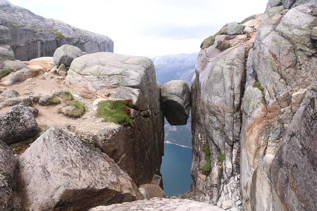 Kjerag_217_06222019 - Preikestolen was one of two famous attractions on the Lysefjorden.  The other one was Kjerag and the Kjeragbolten, which is pictured here