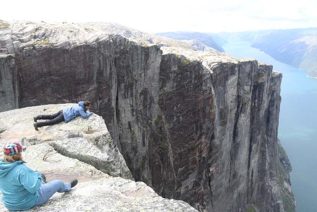 Kjerag_349_06222019 - I had the Nesatind panorama to myself for a bit before other people started showing up, and they were willing to get even closer to the edge than I was willing to go