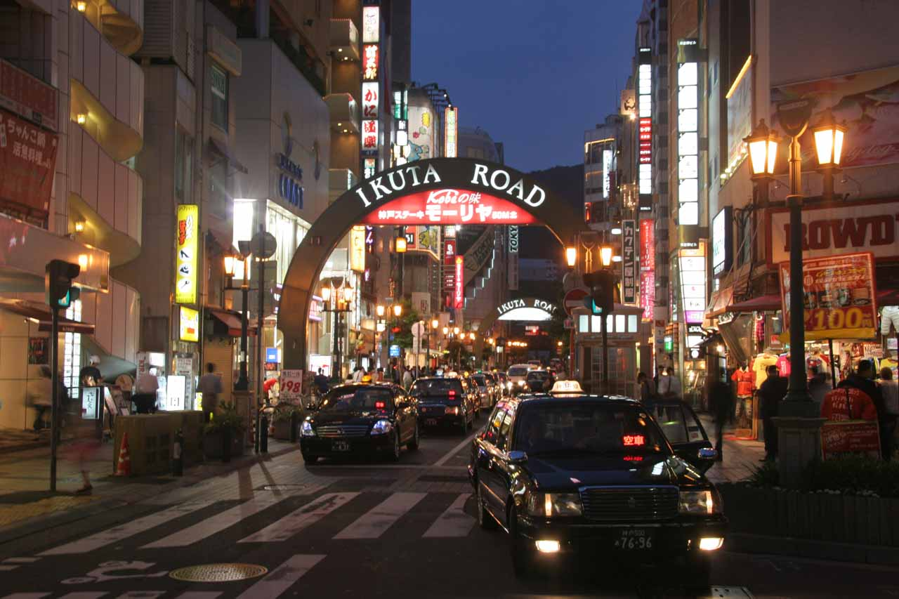 After the Kobe Beef dinner, we then walked around the night arcades of downtown Kobe