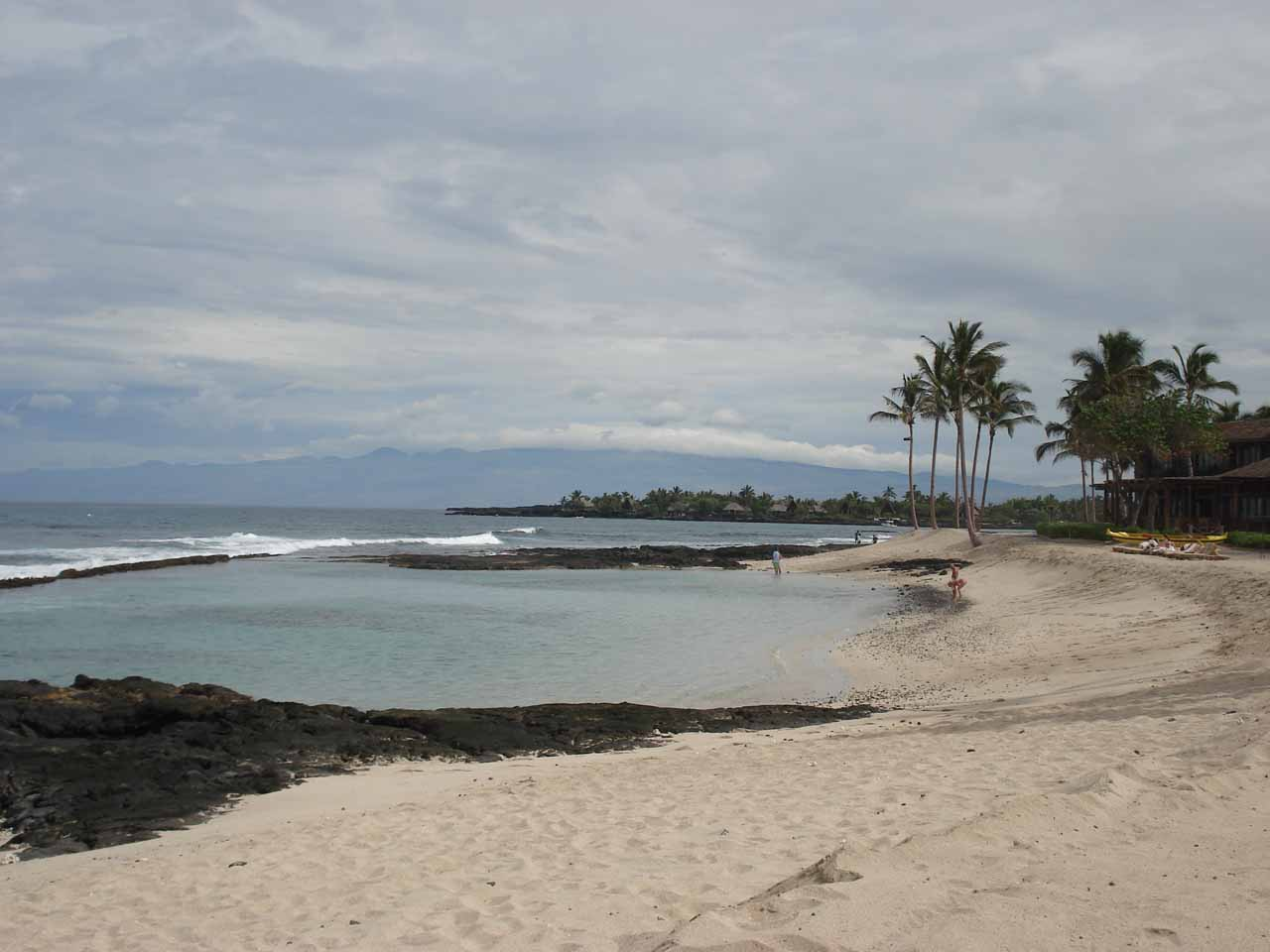 On the leeward side of the Big Island, that was where all the touristy resorts were, including this one at the Four Seasons Waikoloa, where there was also a nice little beach