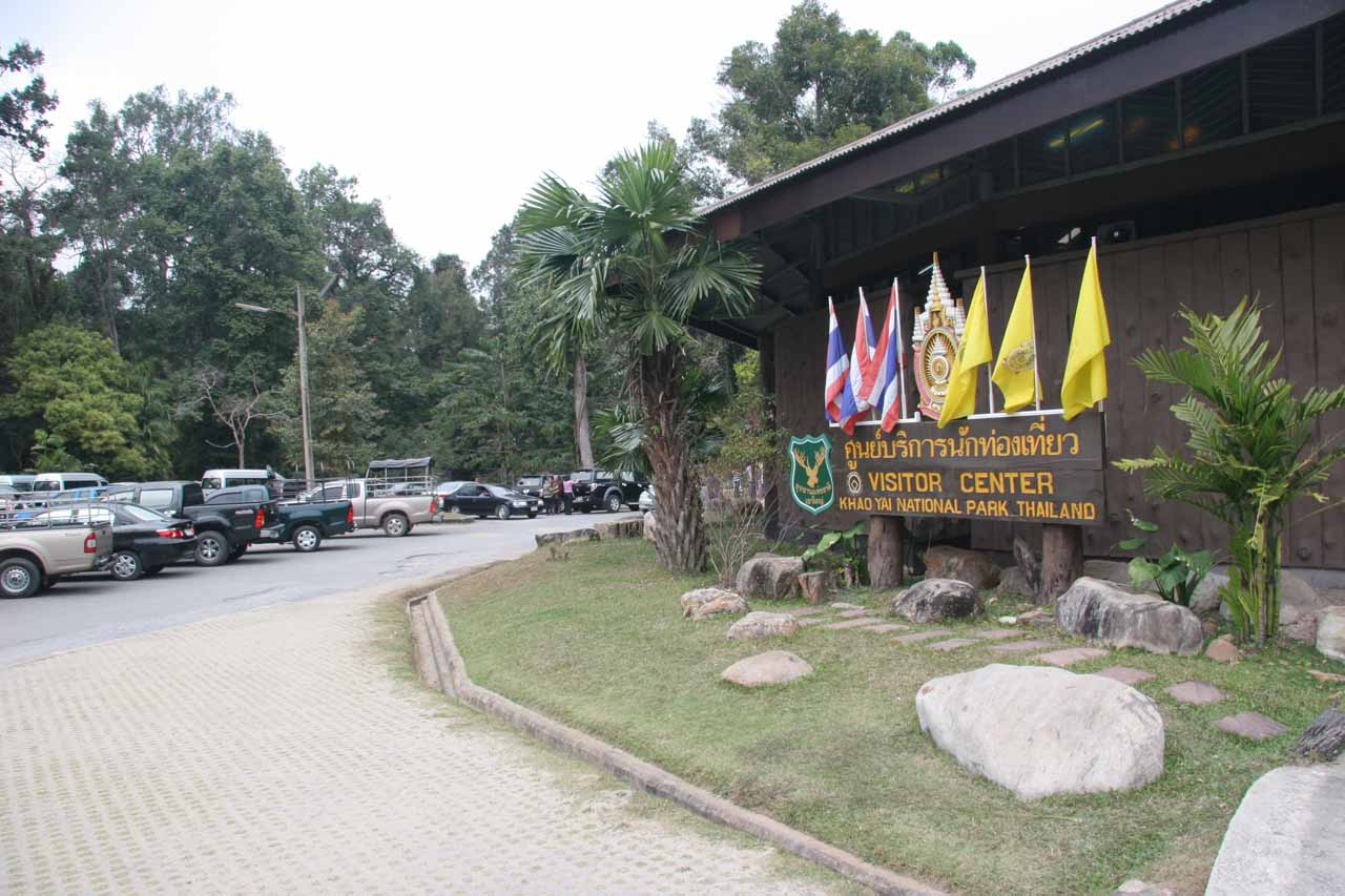 The busy visitor center at Kong Kaeo in Khao Yai National Park