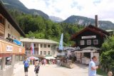 Konigssee_008_07012018 - Walking through Schonau am Konigssee towards the boat dock and ticket kiosk at the north end of Lake Konigssee