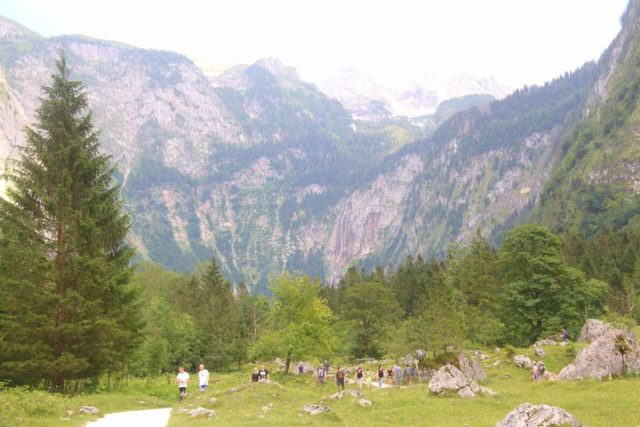 Konigssee_149_07012018 - Hiking between Salet and the north shore of Obersee with Rothbachfall visible in the distance