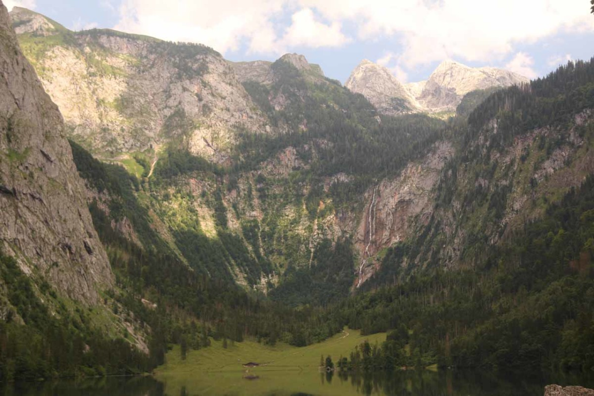 Röthbachfall over Obersee Lake